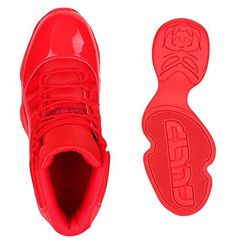 Damen Herren Cultz Basketballschuhe Sportschuhe Sneakers Rot Amares