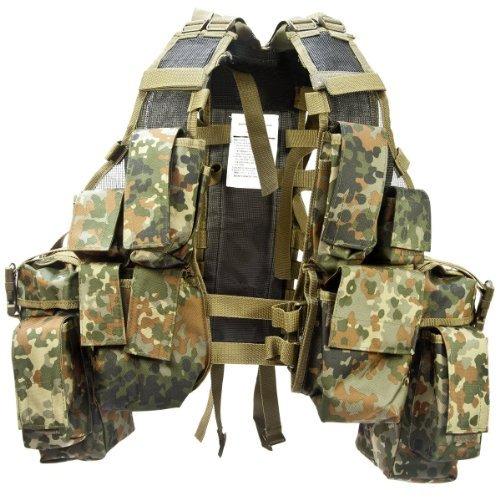 Einsatzweste Tactical (12 TA.) flecktarn