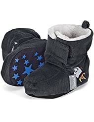Sterntaler Baby Jungen Schuh Krabbelschuhe, Grau (Graphit 593), 22 EU