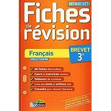 Français Brevet 3e : Fiches de révision