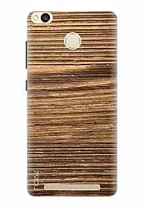 Noise Printed Back Cover Case for Redmi 3S Prime / 3s Plus Designer Case cover Patterns & Ethnic / Wood Design (GD-260)
