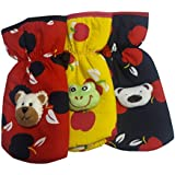 Gurukripa New Born Baby Feeding Bottle Cover Cotton Fabric Apple Print Printed Bottle Cover Baby Bottle Cover Set Feeder Cover New Born Baby Fancy Bottle Cover Feeder Cover Nursing Cover Pack Of 3 Pcs. (125ml, Red)