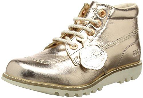 Kickers Damen Kick Hi C Lthr AF Stiefel, Gold (Rose Gold), 38 EU (Hi Stiefel Kick Kickers)