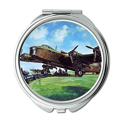 Avion de la seconde guerre mondiale, miroir, miroir de maquillage, chasseur homebrew 5e, miroir de poche, miroir portable
