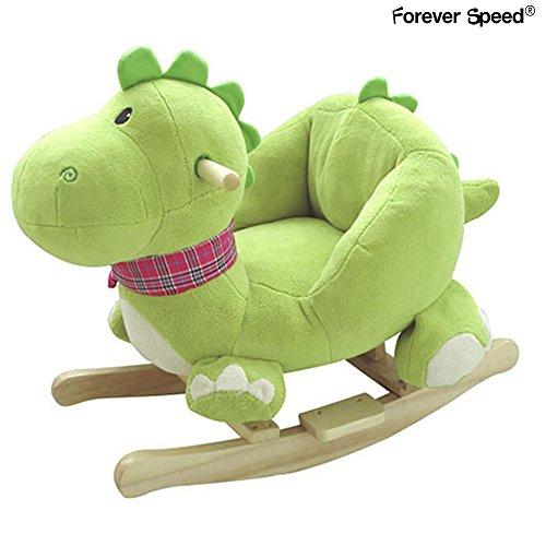 Forever Speed Kinder Schaukelpferd Sound Plüsch Schaukel Schaukeltier Dinosaurier