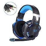 Maudpower G2000 LED Gaming Kopfhörer mit Mic für PC, blau