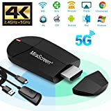 WiFi Display Dongle - 2.4G + 5G Wireless 4K HDMI Display Adapter, Mini Mirroring Supporto Miracast AirPlay DLNA per Android Smartphone/PC/MacBook su TV Monitor/Proiettore