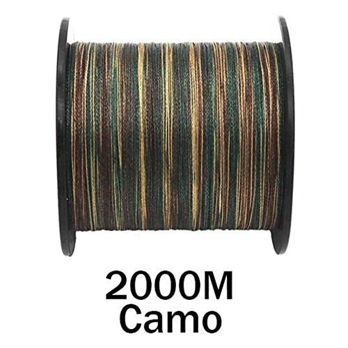 Línea De Pesca 10-300lb Línea De Pesca Trenzada De Carpa PE 100M 300M 500M 1000M 1500M 2000M 8 Hilos Camo Extreme Strong Cord Big Game (Color : 2000M Camo, Line Number : 0.20mm 20LB)