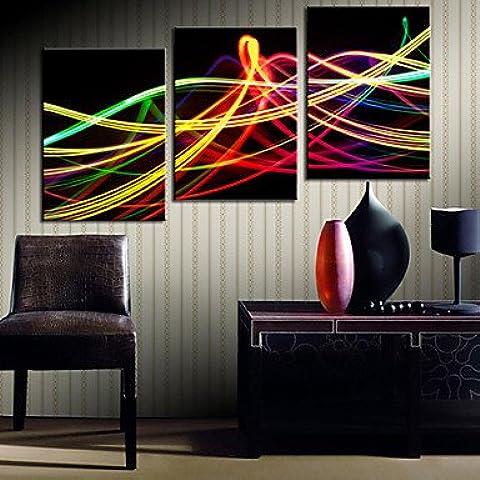 Reproducción de colores Juego de luces arte de la lona abstracta de 3 , 20