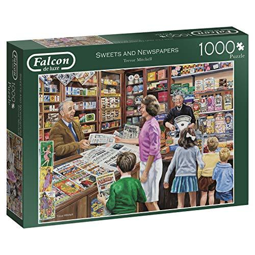 Jumbo 11236 - Falcon de Luxe-Sweets und Zeitungen, 1000 Teile Puzzle (Sweets Magazin)