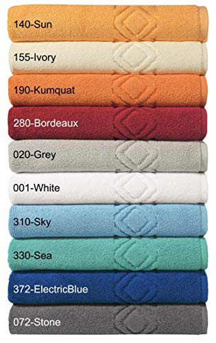 """Badvorleger Badematte Badteppich \""""Denver\"""" von Egeria - Aus 100{e7c44572d9bf31a6f0f853009f9c6846903a676145d27381ccd40a4c9bc0d01f} Baumwolle - In 10 Farben und 3 Größen - Farbe: Hellblau - Größe: 70x130"""