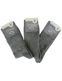 6 Paar Damen Thermo Socken Ohne Gummi (5513)