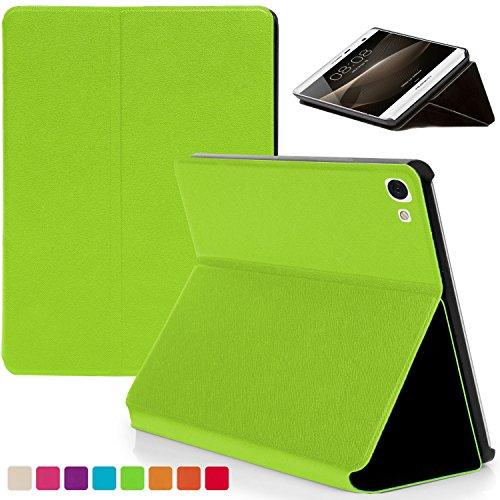 tablet huawei t2 Forefront Cases® Huawei MediaPad M2 7.0 / T2 7.0 Pro Smart Case Cover Custodia Caso Conchiglia - Ultra Sottile con Protezione Dispositivo Completa e funzione Auto Sveglia/Sonno (VERDE)