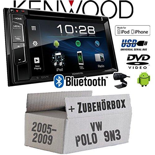VW Polo 9N3 - Autoradio Radio Kenwood DDX318BT - 2DIN Bluetooth   DVD   USB   CD   MP3 - Einbauzubehör - Einbauset
