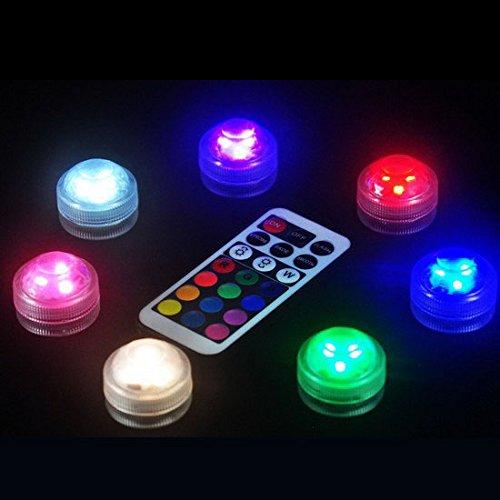 Soja, Bienenwachs (caxmtu 13LED Beleuchtung Lampe Tauchpumpe Fernbedienung Colorful für Aquarium Tauchen Unterwasser Fische Tank)