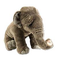 Wild Republic Asian Elephant Plush Soft Toy, Cuddlekins Cuddly Toys, Gifts for Kids 30 cm