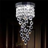 Plafoniera Lampadario a Sfera di Cristallo - Moderna Lampada a Sospensione a LED Apparecchio da Incasso a Soffitto Adatto per il Corridoio Sala da Pranzo Interna (Luce fredda)