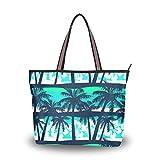 Ahomy Umhängetasche Schultertasche Tropische Palmenblätter abstrakte Handtasche für Outdoor,...