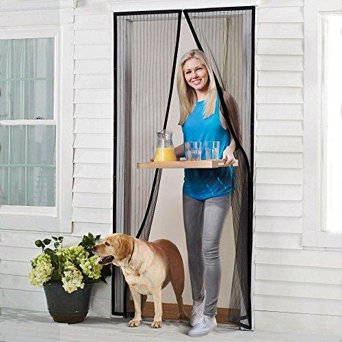 Homitt Magnetischer Türvorhang für Insektenschutz, ohne Bohren, Magnet Fliegengitter Tür, Magnetvorhang für die Balkontür/Kellertür/Terrassentür, Schwarz(ca. 110*220 cm)