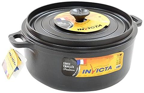 Invicta Cocotte Mijoteuse Ronde Diamètre Noir 28 cm