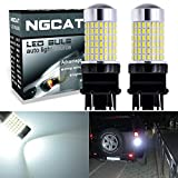 ngcat 2pcs 1500lúmenes 3014SMD 144-ex chipsets 315730573156t25Super Bright LED Bombillas con lente proyector faros exterior a su vez señales Back Up Reverse luces luces de cola, Xenon Blanco 12–24V