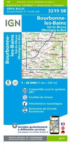 3219SB BOURBONNE LES BAINS-VAL DE MEUSE-MONTIGNY par COLLECTIF
