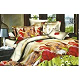 200x220 3D Bettwäsche Bettbezüge Bettwäschegarnituren mit Bettlaken 200x225 Microfaser 4tlg schöne Farben und Muster Hund Hündchen Welpe FSH336