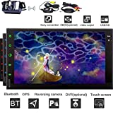 EinCar 7-Zoll-Octa-Core Android 7.1 Head Unit 2 din Fahrzeug Autoradio Bluetooth Stereo In Dash HD Multi-Touch-Screen-Stereo-System Unterst¨¹tzungs-GPS-Navigation 1080P Multimedia 4G WiFi CAM-IN
