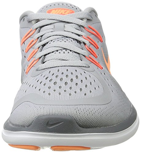 Nike Damen Women's Free Rn Sense Running Shoe Hallenschuhe Mehrfarbig (Wolf Grey/Sunset Glow-Cool Grey)