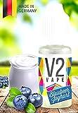 V2 Vape E-Liquid Blaubeer Joghurt - Luxury Liquid für E-Zigarette und E-Shisha Made in Germany aus natürlichen Zutaten 10ml 0mg nikotinfrei