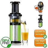 Profi Fruchtpresse + Gemüsepresse BPA-Frei, Slow-Juicer für MEHR Vitamine, MEHR Geschmack, MEHR...