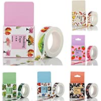 DIKETE® 6 Tape Rolls Washi decorativo del fumetto Sticky carta