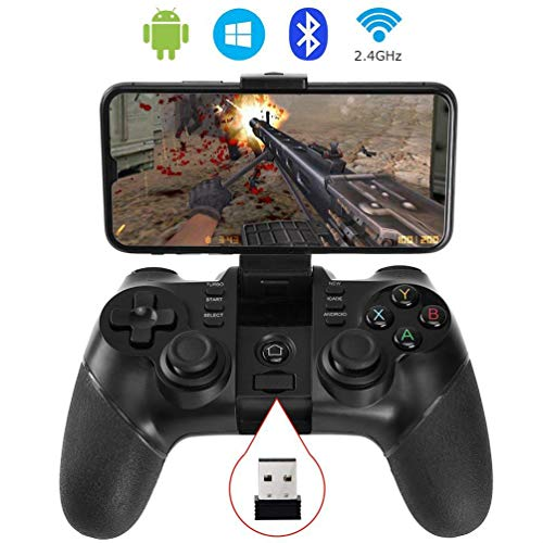 Finewlo - Mando inalámbrico para Videojuegos, 2,4 G, Bluetooth, para  Android, PC, Windows, Tablet, Smart TV, PS3