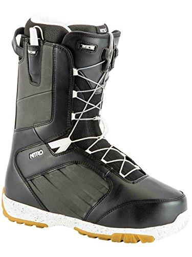 Nitro Snowboards Herren Anthem TLS 19' Leichter Snowboardschuh Snowboardboot mit Schnellschnürsystem Allround Freestyle Freeride Softboot Warm Boots Black-White 30.5 -