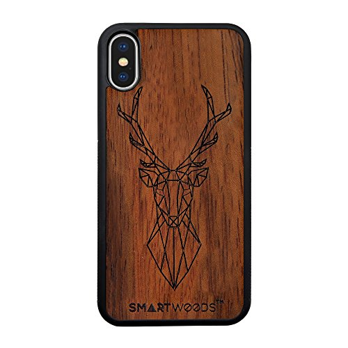 SMARTWOODS Deer Active Schützhülle für das neue Iphone Xs und iPhone X, Holzcase für Smartphone, Handyhülle, Schutzhülle aus Holz für iPhone, ökologisch, naturnah und original