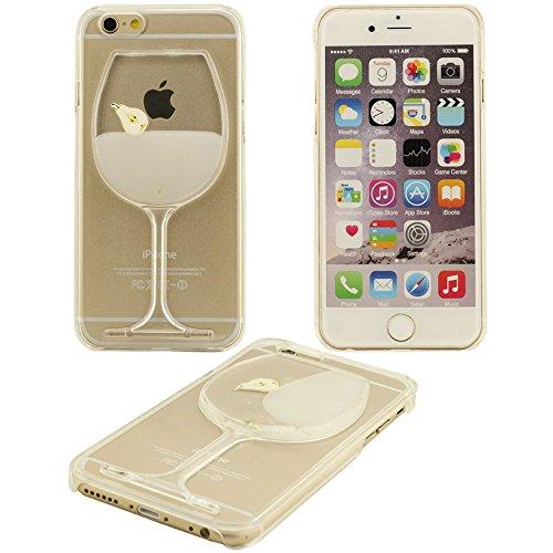 Fließen Flüssig Verschiedene Farben von Likör Pattern Series Hartplastik Schutzhülle case für das Apple iPhone 6S / 6 Hülle 4.7 inch(Weiß) - (iPhone 6 plus nicht fit) Weiß