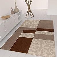 Moderno Soggiorno Tappeto Design con fantasia floreale Quadrettato, Taglio contorni