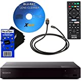 Sony BDPS6700 4K Upscaling Wi-Fi Blu-ray Disc Player + Remote Control + Xtech Blu-Ray Disc Laser Lens Cleaner + Xtech High-Speed HDMI Cable With Ethernet + HeroFiber Ultra Gentle Cleaning Cloth