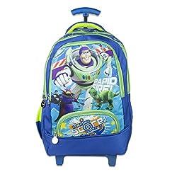 Disney School Trolley Bag For Boys & Girls 07+ Years Trolly Rapid Fire Score 24 (L) Blue (At-0016)