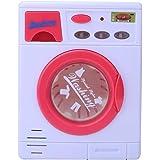 Simulazione Lavatrice Giocattolo, Elettrodomestico Lavatrice Modello con Luci e Suoni Fingere Giochi di Ruolo Educazione Prec