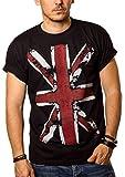 Vintage England T-Shirt UNION JACK Flagge schwarz Männer L