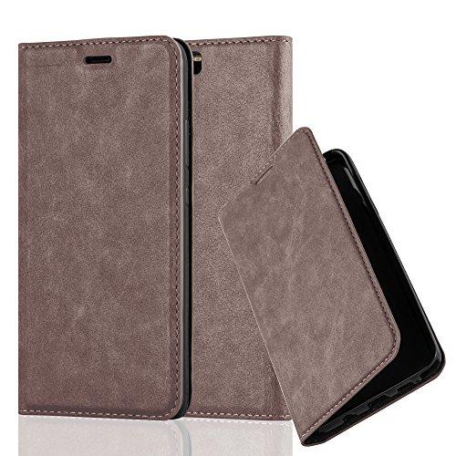 Cadorabo Custodia Libro per Huawei P10 Plus in Bruno Café - con Vani di Carte, Funzione Stand e Chiusura Magnetica - Portafoglio Cover Case Wallet Book Etui Protezione