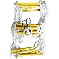 AYHa Long Rope Ladder Soft Ladder Resin High Climbing Non-Slip Rope Ladder Emergency Work Safety Response Fire Rescue Rock Climbing 2/3 Stories Escape Fitness Training Ladder,15M,15m