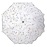 Ombrelle Dames Triple Pliant été Sun Proof Parapluies Protection UV Begonia...