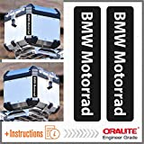 2pcs Reflektierende Aufkleber BMW Motorrad R 1200 1150 F 800 650 F700 GS A R1200GS R1200 Touratech Motorcycle Aluminium Panniers Top Case (Black)