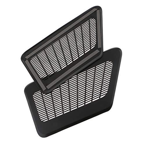 F Fityle 2 Stücke Autositz Boden Vent Luftauslass Kanal Grille Abdeckung Aus ABSfür Autos - Abdeckungen Boden-vent
