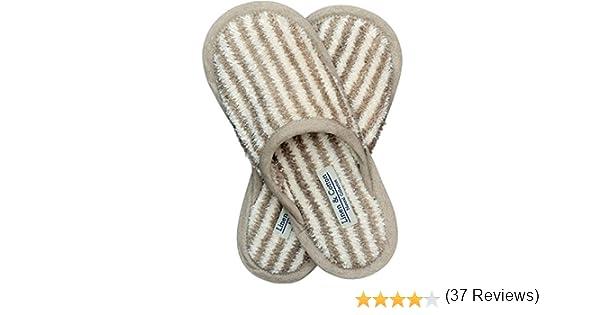 Linen /& Cotton Pantofole per Il Bagno Uomo//Donna Alba 60/% Lino 40/% Cotone
