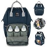 UPGRADED VERSION-UTO Wickeltasche Multifunktions Große Kapazität Wasserdichte Reisetasche Rucksack Taschen für Babypflege Stilvolle Durable Outdoor Rucksack Blau