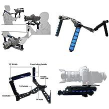 Kit cinematografico Premium, Attrezzatura portabile a Spalla, Supporto imbottito/Pad Supporto per Video Telecamere DV Camcorder, Canon 5D,6D, 7D, 60D, 550D, 600D, 650D, Nikon D90 D7000 D5200 D5100 D3200 D3100 D800, Sony A37 A55, A33, A580, A560, Panasonic GH1, GH2, GH3 Pentax Olympus Sony Fuji DSLR