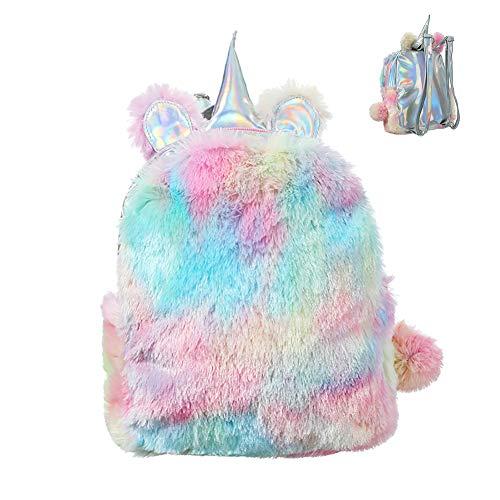 Sungpunet 1pc carino peluche unicorno zaino morbido 3d unicorn regalo ragazza zaino